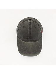 Недорогие -Муж. Для вечеринки Активный Шляпа от солнца Бейсболка Полиэстер Джинса, Однотонный Пэчворк