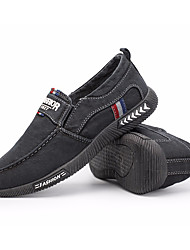 cheap -Men's Shoes Canvas Fall Comfort Loafers & Slip-Ons Black / Gray / Blue