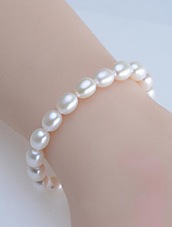 cheap -Women's Pearl / Freshwater Pearl Strand Bracelet - Freshwater Pearl Natural, Sweet, Fashion Bracelet White For Gift / Daily