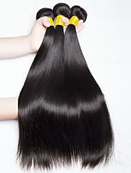 cheap -Malaysian Hair Straight Natural Color Hair Weaves / Human Hair Extensions 4 Bundles Human Hair Weaves Odor Free / Best Quality / Hot Sale Natural Black Human Hair Extensions Women's