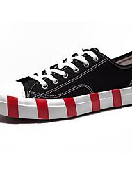 povoljno -Muškarci Cipele Platno / Tkanina Jesen Udobne cipele Sneakers Obala / Crn / Prugasti uzorak