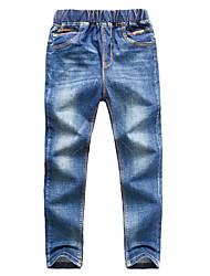 preiswerte -Kinder Jungen Aktiv Solide Baumwolle Jeans