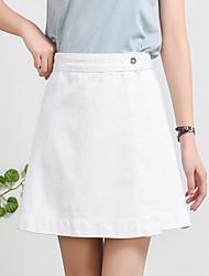 povoljno -Žene Bodycon Aktivan Suknje - Jednobojni Blue & White