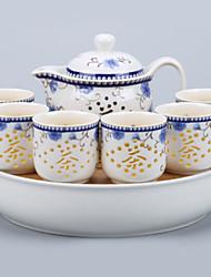 abordables -8pcs Porcelaine Service à Thé Résistant à la chaleur ,  16*11.5;25.5*25.5*5.5;6*6*6cm
