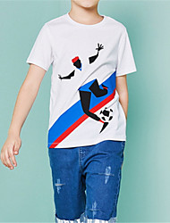 voordelige -Kinderen Jongens Geometrisch Korte mouw T-shirt
