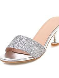 お買い得  -女性用 靴 PUレザー 春夏 コンフォートシューズ サンダル スティレットヒール のために オフィス&キャリア / アウトドア ゴールド / シルバー / レッド