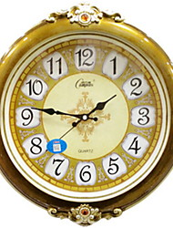 cheap -European Plastic Round AA Batteries Powered Wall Clock