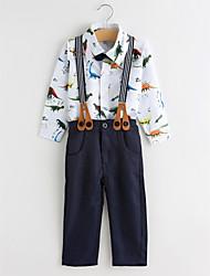 Недорогие -Дети (1-4 лет) Мальчики Простой / На каждый день Для вечеринок Животное Длинный рукав Хлопок Набор одежды