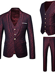 cheap -Men's Business Suits-Print,Jacquard