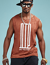 cheap -Men's Basic / Street chic T-shirt - Solid Colored Print