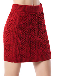 preiswerte -Damen Grundlegend Bodycon Röcke - Solide