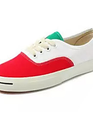 cheap -Men's Rubber Spring / Summer Comfort Sneakers Color Block Red / Black / White