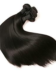 baratos -6 pacotes Cabelo Brasileiro Liso Não processado / Cabelo Remy Extensões de Cabelo Natural Tramas de cabelo humano Macio / Venda imperdível / Para Mulheres Negras Preta Côr Natural Extensões de cabelo