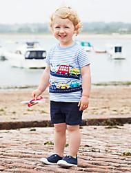 economico -Bambino / Bambino (1-4 anni) Da ragazzo A strisce Manica corta T-shirt