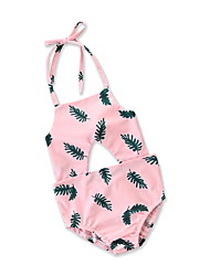 cheap -Kids / Infant / Toddler Girls' Tropical Leaf Floral / Geometric / Print Sleeveless Swimwear