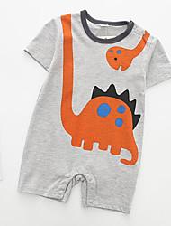 cheap -Baby Unisex Print Short Sleeves Romper / Cute