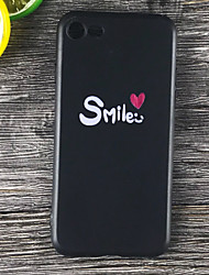baratos -Capinha Para Apple iPhone X / iPhone 8 Plus Antichoque / Áspero / Estampada Capa traseira Palavra / Frase Macia TPU para iPhone X / iPhone 8 Plus / iPhone 8