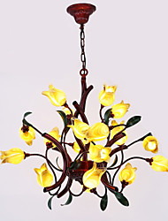 cheap -Oulm Candle-style Chandelier Ambient Light - New Design, Creative, 110-120V / 220-240V, Yellow, Bulb Included / G4 / 15-20㎡ / VDE