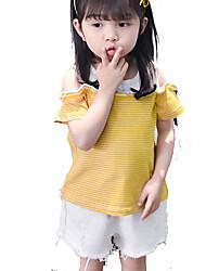 Недорогие -Дети (1-4 лет) Девочки Полоски С короткими рукавами Футболка