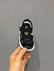 abordables -Fille Garçon Chaussures Cuir Eté Confort Sandales Scotch Magique pour Enfants De plein air Blanc Noir