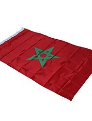 baratos -Decorações de férias Eventos esportivos / Copa do Mundo Bandeira Nacional Marrocos 1pç