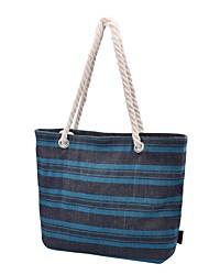cheap -Women's Bags Canvas Tote Pattern / Print Fuchsia / Brown / Black / White