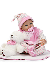 cheap -NPKCOLLECTION Reborn Doll Baby Girl 22 inch Silicone Kid's Unisex Gift