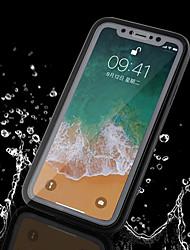 abordables -Funda Para Apple iPhone X / iPhone 8 Plus Impermeable Funda de Cuerpo Entero Un Color Suave TPU para iPhone X / iPhone 8 Plus / iPhone 8