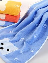 abordables -Style frais Serviette de bain Essuie-mains, Couleur Pleine Jacquard Qualité supérieure Polyester / Coton 100% Fibre de bambou Autres