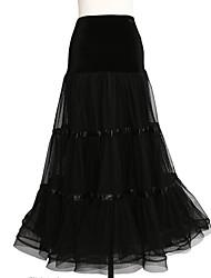 abordables -Danse de Salon Bas Femme Utilisation Tulle Mousseline de Soie Velours Ruché Taille moyenne Jupes