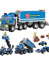 cheap -Building Blocks 163pcs Transporter Truck Parent-Child Interaction Gift