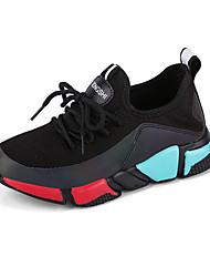abordables -Garçon Chaussures Tulle / Polyuréthane Printemps été Confort Chaussures d'Athlétisme Course à Pied / Marche pour Bébé Blanc / Noir /