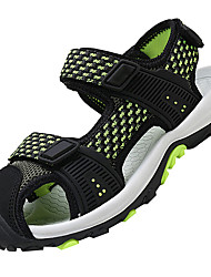 cheap -Boys' Shoes Breathable Mesh PU Summer Comfort Sandals Buckle for Outdoor Dark Blue Gray Black / Green