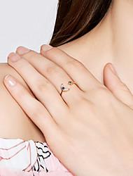 abordables -Femme Zircon S925 argent sterling Lune / Etoile Anneau ouvert - Doux / Coréen Or Bague Pour Anniversaire / Valentin