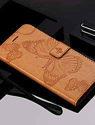 cheap -Case For Motorola MOTO G6 / Moto G6 Plus Wallet / Card Holder / with Stand Full Body Cases Butterfly Hard PU Leather for Moto Z Force / Moto X Style / MOTO G6