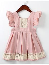 economico -Bambino (1-4 anni) Da ragazza Con stampe Senza maniche Vestito