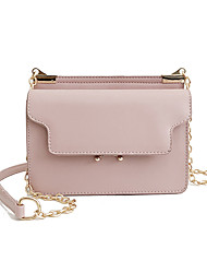 baratos -Mulheres Bolsas PU Leather Bolsa de Ombro Botões / Ziper para Compras / Para Noite Vermelho / Rosa / Khaki