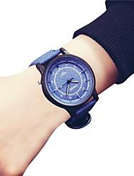 Недорогие -Жен. Наручные часы Китайский Секундомер / Крупный циферблат Кожа Группа Кольцеобразный / Мода Синий / Серый / Бежевый / SSUO LR626
