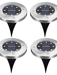cheap -4pcs 2W Lawn Lights Solar Warm White / Cold White 1.2V Outdoor Lighting / Courtyard / Garden