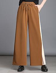 cheap -Women's Basic / Street chic Wide Leg Pants - Color Block Split