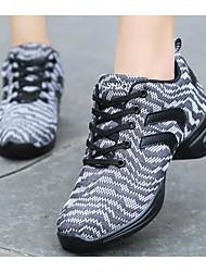 baratos -Mulheres Tênis de Dança Tule Têni Salto Baixo Sapatos de Dança Cinzento / Roxo / Espetáculo / Ensaio / Prática