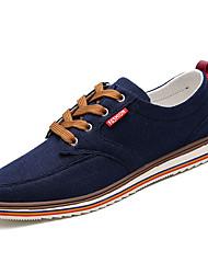 cheap -Men's PU(Polyurethane) Fall Comfort Sneakers Dark Blue / Dark Grey / Light Grey