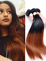 abordables -Cheveux Brésiliens Droit Tissages de cheveux humains 3pcs Doux Soyeux Cheveux Colorés nouveau Meilleure qualité One Pack Solution Femme