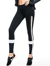 お買い得  -女性用 ランニングタイツ 速乾性 サイクリングタイツ 戸外運動 コットン ブラック / ホワイト M / L / XL