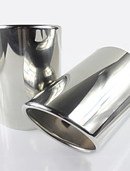 baratos -223 2pcs 63mm Pontas do tubo de escape Não dobrada Aço Inoxidável Silenciadores de Escape For Cadillac CT6 Todos os Anos