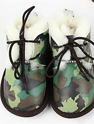 baratos -Para Meninas Sapatos Pêlo / Pena Inverno Botas de Neve Botas para Ao ar livre Bege Roxo Verde Tropa Rosa claro Leopardo
