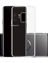 Недорогие -Кейс для Назначение SSamsung Galaxy S9 Прозрачный Кейс на заднюю панель Однотонный Мягкий ТПУ для S9