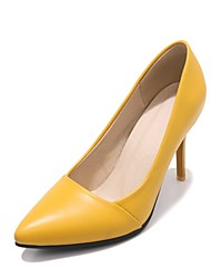 cheap -Women's Shoes Leatherette Spring Basic Pump Heels Stiletto Heel Pointed Toe Yellow / Pink / Light Blue / Party & Evening