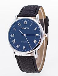 abordables -Hombre / Mujer Reloj de Pulsera Chino Reloj Casual PU Banda Moda Negro
