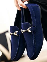 Недорогие -Муж. Нубук Весна Удобная обувь Мокасины и Свитер Черный / Красный / Синий